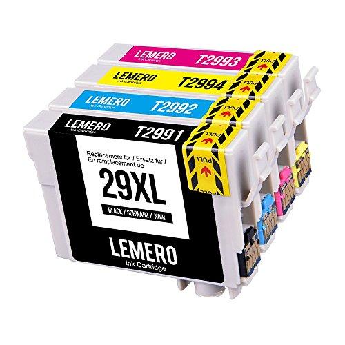 4 LEMERO 29XL 29 XL T2991 T2992 T2993 T2994 XL Druckerpatronen Kompatibel für Epson Expression Home XP-235 XP-240 XP-245 XP-247 XP-330 XP-332 XP-335 XP-340 XP-342 XP-345 XP-430 XP-432 XP-435 XP-440 XP-442 XP-445 Drucker,Schwarz Cyan Magenta Gelb