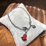 Armband mit Rose rot