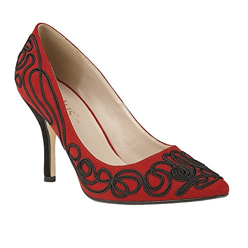 Lotus Matin Womens Dress Court Shoes 4 Red/Black