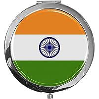 """metALUm - Extragroße Pillendose in runder Form""""Flagge Indien"""" preisvergleich bei billige-tabletten.eu"""
