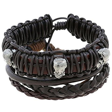 Accessoires de mode Mens Bracelet en cuir bracelet Indian Jewelry Handmade