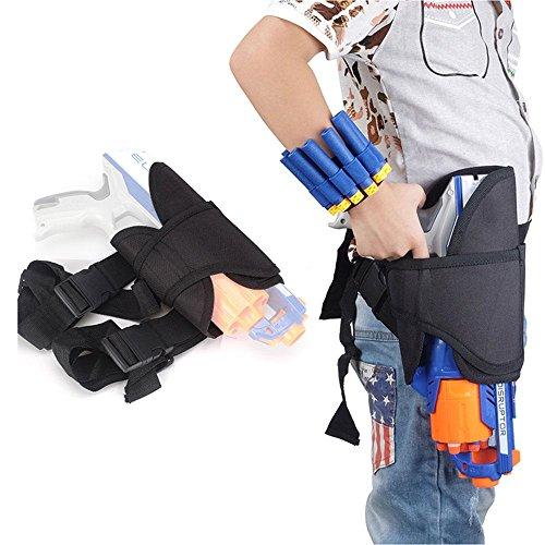 Aolvo Kids Nerf Gürteltasche, Verstellbare Nerf Pistolenhalfter für Nerf Pistolen Leg Holster Bag für Nerf Pistolen N-Schlag Elite Series Blaster Spielzeug