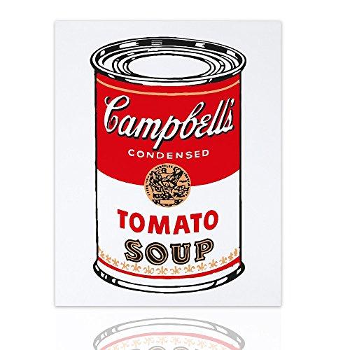 Quadro su Tela tributo Andy Warhol Campbell's Soup Pronto da appendere quadro pop art – Colorscrazy