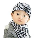 Baby Boys Girls Berretti e copricapo Berretto da pirata Paisley Bandana cappello con collo Sciarpa fazzoletto da collo regolabile per bambini piccoli 3 - 6-12 mesi