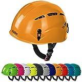 Casco universale per arrampicata e alpinismo ARGALI via ferrata in molti colori diversi moderni di Alpidex, Colore:sunset orange