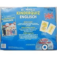 Dr. Pfiffikus Kinderquiz Englisch (Kartenspiel), m. Buch u. CD-ROM