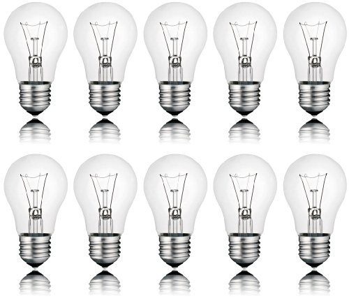 10 x Light Bulb 60 W E27 Clear Light Bulb 60 Watt bulbs