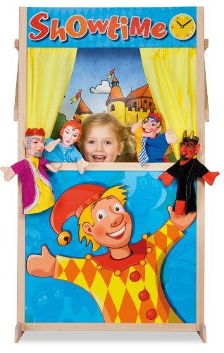 Eichhorn Puppet Theater Booth - juguetes de rol para niños (Puppet theatre, Niño/niña, Multicolor, Madera, Imagen, Europa)