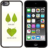 Queen Pattern - FOR Apple iPod Touch 6 6th Generation - Funny Cute Leaf Tree Couple - Impact Case Cover with Art Pattern Designs