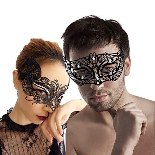 Sky tears metallo maschere veneziane per coppia di halloween costume maschera cosplay carnevale mardi gras maschera, maschere carnevale