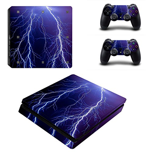 dotbuy PS4Slim Vinyl Aufkleber Full Body Haut Aufkleber für Sony PlayStation 4Slim Konsole und 2Dualshock Controller