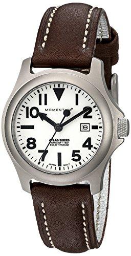 Momentum 1M-SP01W2C - Reloj analógico de cuarzo para mujer con correa de piel, color marrón