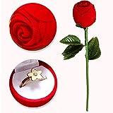 Taottao creative Propose Ring Jewelry Box regalo orecchino Ring Jewelry organizer 2018nuovo arrivo 28cm (L) * 4.cm (W) * 4cm (H) Red