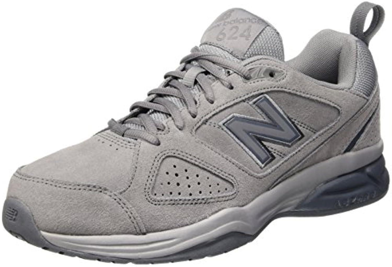 New Balance 624v4, Zapatillas Deportivas para Interior para Hombre, Gris (Gunmetal Gr4), 43 EU