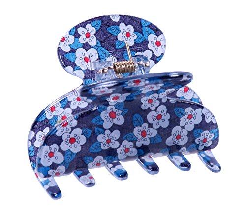 Liberty Blue Couture Pince à cheveux | Fabriquée à la main en France
