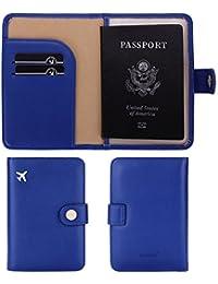 Zoppen Unisex RFID bloqueo de viaje pasaporte tarjeta de identificación Holder, funda de viaje