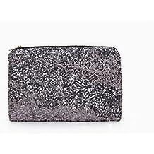 ulooie moda deslumbrante lentejuelas bolso de mano tipo bolso de mano con purpurina para fiestas de