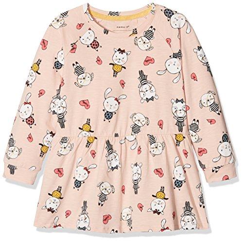 n Kleid Nmfdaviola LS Tunic, Rosa (Peachy Keen), 104 (Peachy Mädchen)
