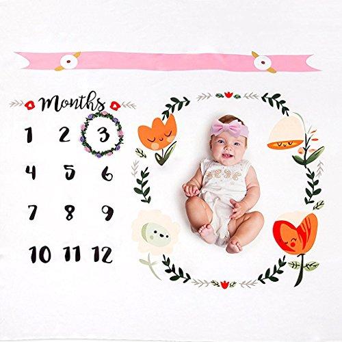 Baby Monatliche Meilenstein Decke Neugeborene Monatliche Personalisierte Foto Decke Foto Requisiten Aufnahmen Hintergrund Für Jungen Mädchen,B (Baby-foto-blöcke)