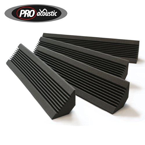 4x AFBT200 Pro Acoustic Foam Bass Traps Studio Sound Treatment