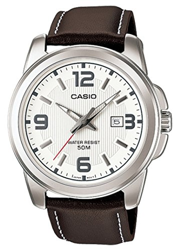 Casio MTP-1314PL-7AVEF – Reloj de pulsera hombre, piel, color marrón