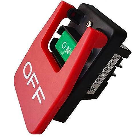 Kedu 380V 3CH 20Amp Table scies électromagnétiques Pushbutton Switch Paddle commutateur pour Bench sciage de bois machine Hy56