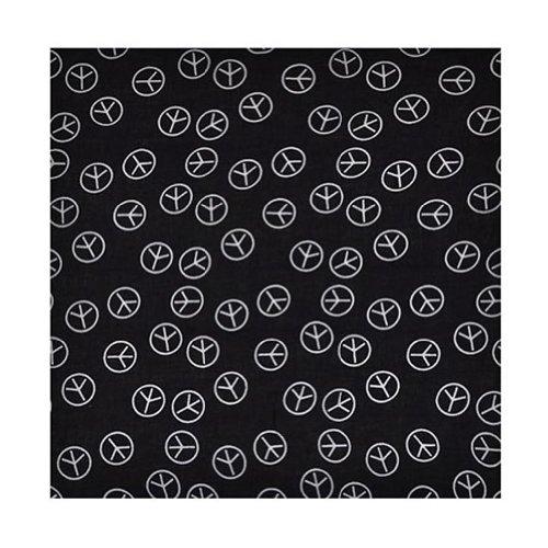 Toutacoo, Bandana, Foulard, 100% Coton - Couleur Peace & Love