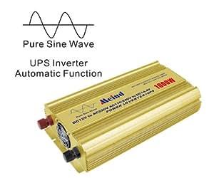 Auto Switch Pure sine wave Power inverter 1000W DC 12V AC 220V + UPS function