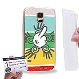 Case88 [Samsung Galaxy S5] Gel TPU Hülle / Schutzhülle & Garantiekarte - middle finger theme design DSE0303