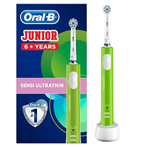 Oral-B Junior Elektrische Zahnbürste, für Kinder ab 6 Jahren, grün