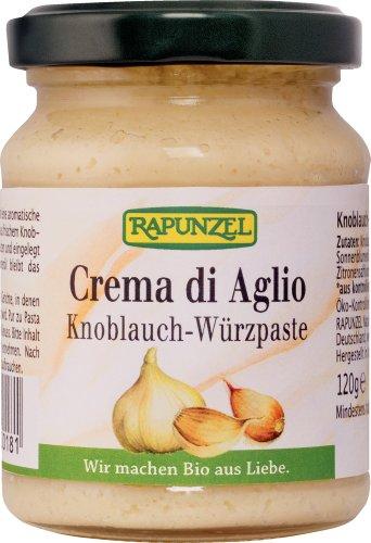 Rapunzel Crema di Aglio, Knoblauch-Würzpaste, 1er Pack (1 x 120 g) - Bio
