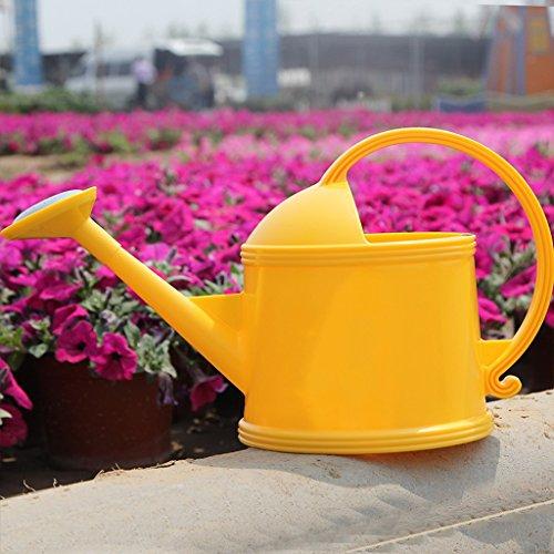 Wddwarmhome Arrosage Bouilloire Résine Arrosoir Pot Enfant Arrosage Outils de jardinage ( Couleur : Le jaune , taille : 3.8L )