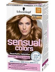 Sensual Colors dauerhafte Coloration, Soft Caramels 750 Caramel Blond, 3er Pack (3 x 1 Stück)