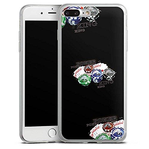 Apple iPhone X Slim Case Silikon Hülle Schutzhülle Poker Kartenspiel Casino Silikon Slim Case transparent