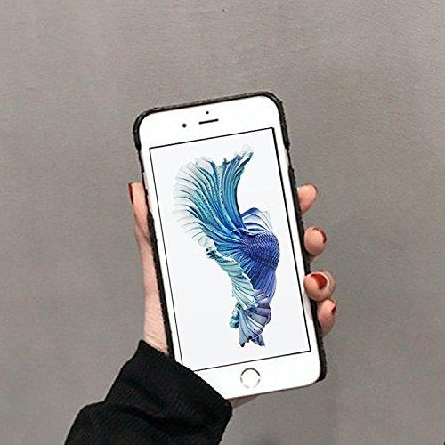 Phone case & Hülle Für iPhone 6 Plus / 6s Plus, Herzform Glitter Powder Hard Schutzmaßnahmen zurück Fall Fall ( Color : Red ) Black