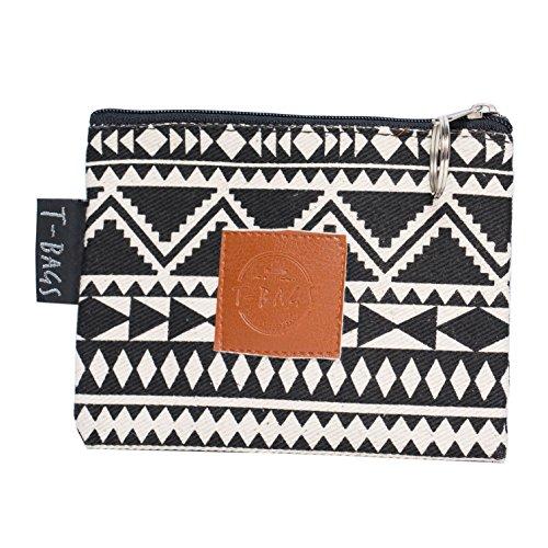 Original ♡ T-BAGS Thailand Geldbeutel | Portemonnaie | Utensilientasche| hochwertig, stylisch, mit Reißverschluss | 13 coole Designs (Etno)