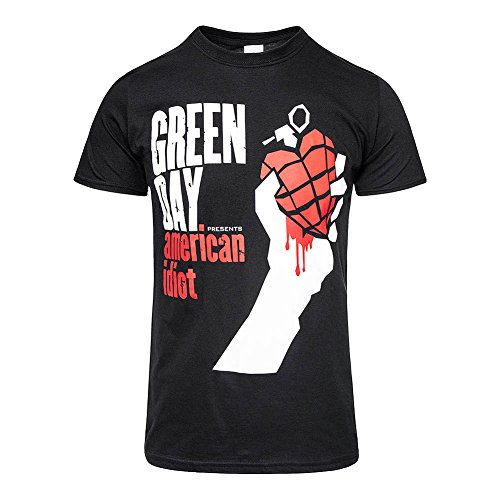 Green Day American Idiot Camiseta Negro L