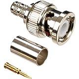 Conectores BNC para Cable RG58 10 Unidades Kagni LMR195 RG58