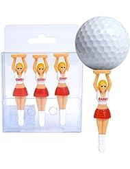 Für Par Cheerleader Golf Tees (3-er Pack) mehrfarbig