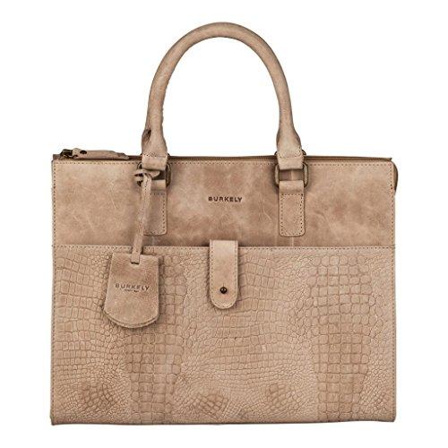 Burkely Croco Chloe Handtasche M Sand (Croco Handtasche Fashion Print)