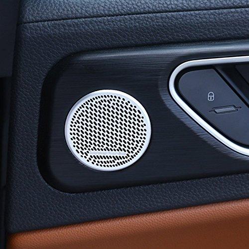 car-styling Aluminium Legierung Innen Dekoration inneren Tür Lautsprecher Zubehör Rahmen Cover Trim Auto Zubehör für Giulia 2017