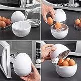 GKA Eierkocher für die Mikrowelle für 4 Eier Maker Kocher schnell mit Rezepten Eier kochen in Mikrowelle spülmaschinenfest Microwave Egg