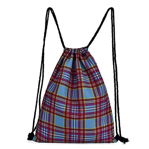 HWX Cordon Sac à Dos Gym Sac Sac Voyage Oxford Tissu String Sac pour Les Femmes/Filles & Enfants Livre Daypack (41 * 33 * 1CM)
