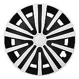 CM DESIGN Spinel Weiß Schwarz - 16 Zoll, passend für Fast alle BMW z.B. für 3er E46 Cabrio