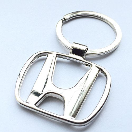 Price comparison product image iTech ® Honda Chrome Metal Car Logo Keyring Key Fob Keychain