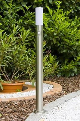 Stehlampe mit Bewegungsmelder aus Edelstahl