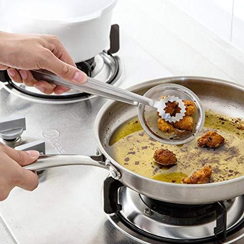 Jiobapiongxin Küchen-Sieb-Edelstahl-Kochlöffel-Drahtnetz-Wok-Sieb-Abschäumer JBP-X - Wok-sieb