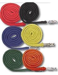 Correa trenzada para caballo Eco anbinde cuerda Softra–Cuerda para con antipánico plateado gancho aprox. 2m rojo