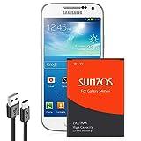 SUNZOS Akku für Samsung Galaxy S4 Mini | Wie B500BE | Galaxy S4 Mini i9190 | Galaxy S4 Mini Dual SIM i9192 | Galaxy S4 Mini LTE i9195 | Batterie Accu Battery