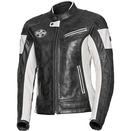Spirit Motors Motorradschutzjacke, Motorradjacke Damen Retro-Style Lederjacke 1.0 anthrazit L, Chopper/Cruiser, Ganzjährig